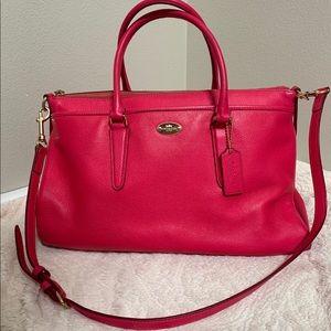 Coach hot pink handbag